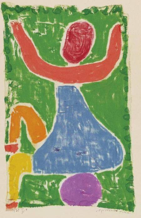 Paul Klee-Spielendes Kind-1938
