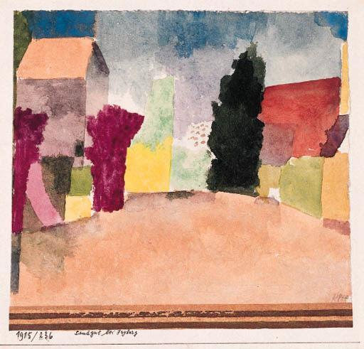 Paul Klee-Landgut Bei Fryburg (Country House Near Fribourg)-1915