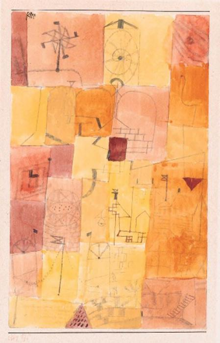 Paul Klee-Stadt Eines Kindes Mit Dem Windmuhle-1919