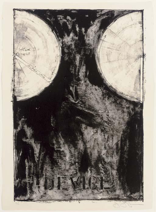 Jasper Johns-Device (Ulae 12)-1962