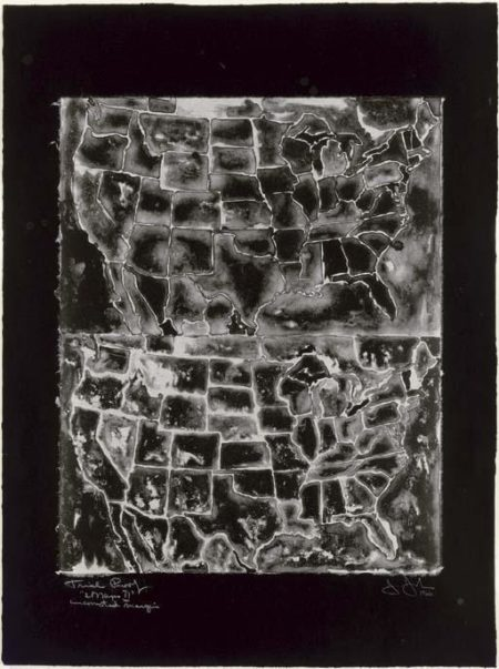 Jasper Johns-Two Maps II (ULAE 26)-1966