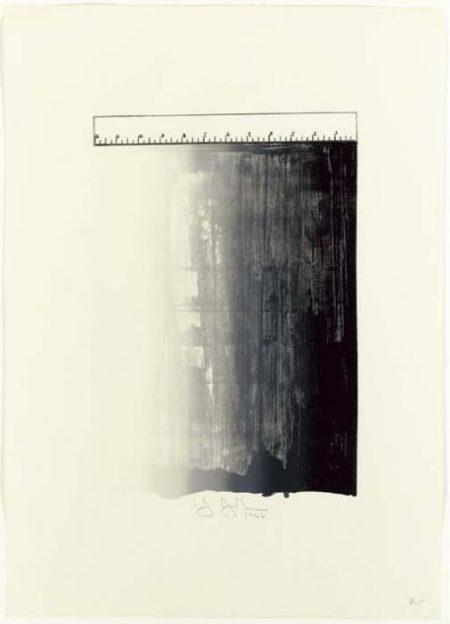 Jasper Johns-Ruler (Ulae 28)-1966