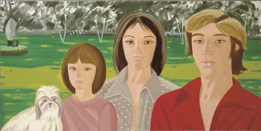Alex Katz-Samantha, Joey and Yolanda Kluge-1976