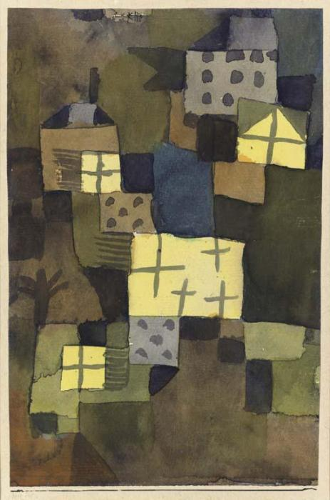 Paul Klee-M.D. Gelben Fenstern (Yellow Windows)-1919