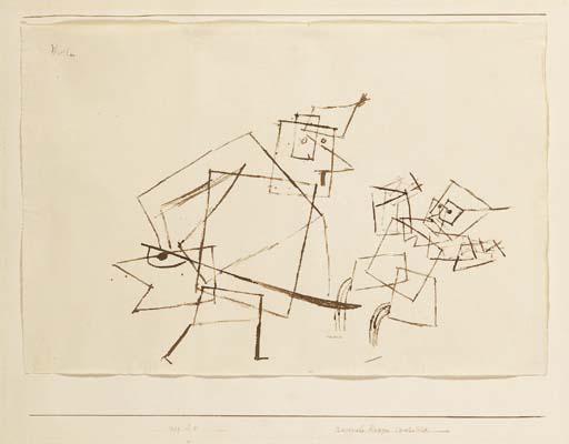 Paul Klee-Rasender Krieger II (Warrior)-1929