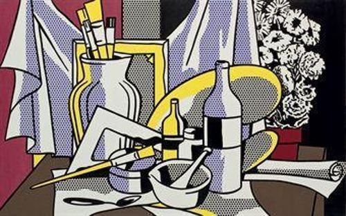 Roy Lichtenstein-Still Life with Palette-1972