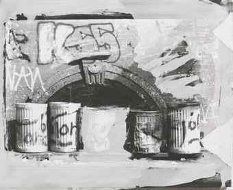 Robert Rauschenberg-Robert Rauschenberg - From the Bleacher Series: Trash Cans IV-1989