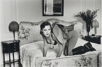 Helmut Newton-Saddle I, Paris (at the Hotel Lancaster)-1976