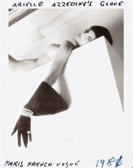 Helmut Newton-Arielle Azzedine's Glove, Paris, French Vogue-1982