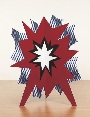 Roy Lichtenstein-Standing Explosion (Red)-1966