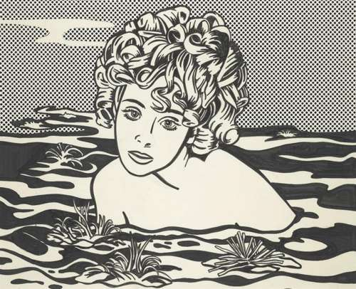 Roy Lichtenstein-Girl in Water-1968
