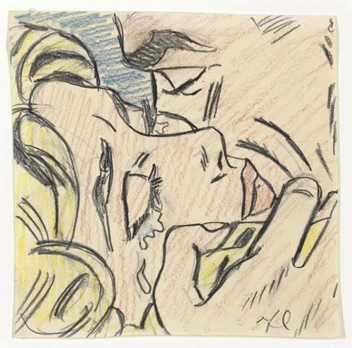 Roy Lichtenstein-Drawing for Kiss V-1964