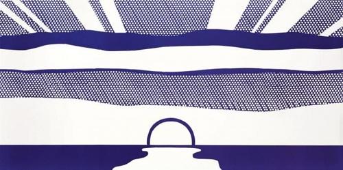 Roy Lichtenstein-Setting Sun and Sea-1964