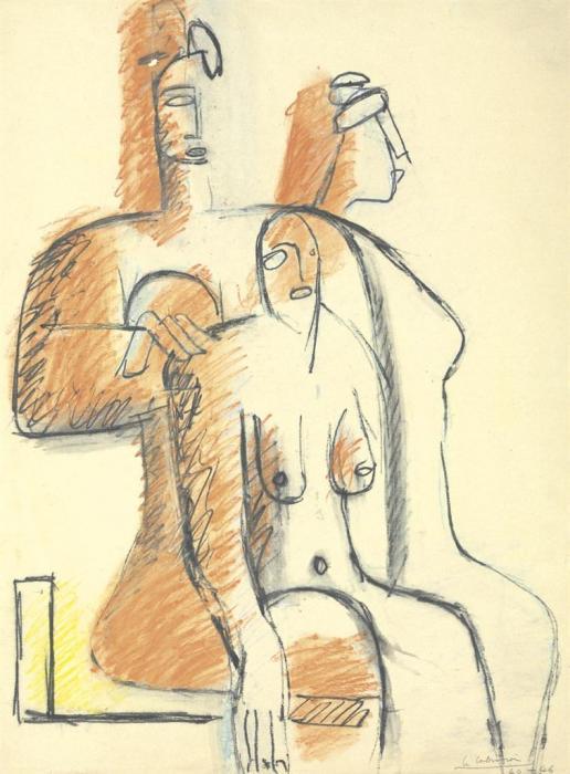Le Corbusier-Trois femmes assises-1946