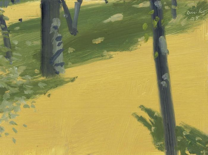 Alex Katz-Yellow Field, Green Shadows-1998