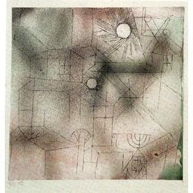 Paul Klee-Hauser In Der Sonne-1919
