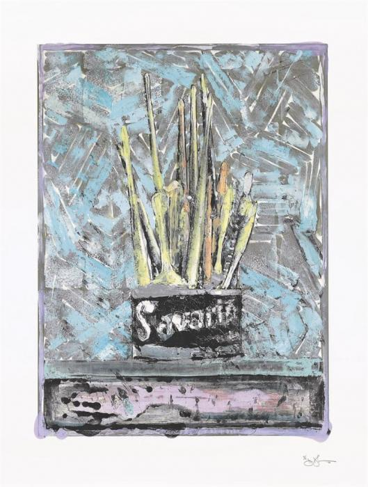 Jasper Johns-Savarin (ULAE S36)-1982