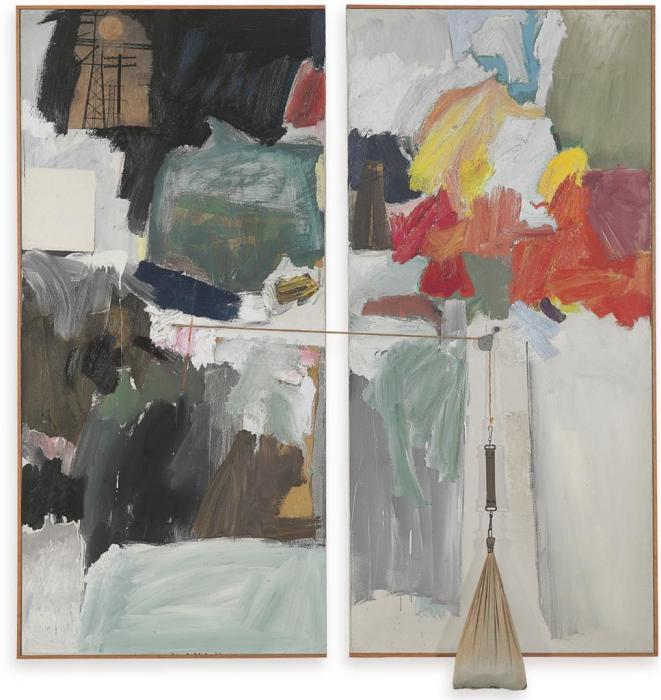 Robert Rauschenberg-Robert Rauschenberg - Studio Painting-1961
