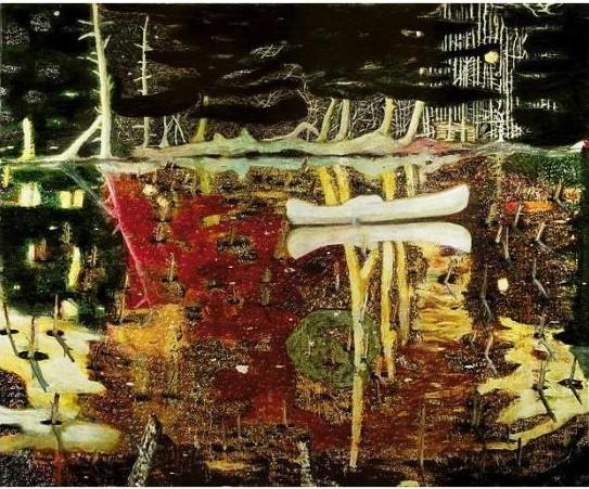 Peter Doig-Swamped-1990