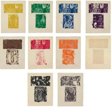 Jasper Johns-0-9 (ULAE 19)-1963