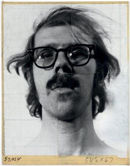 Chuck Close-Self-Portrait, Maquette-1968