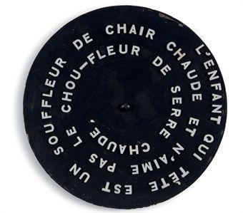 Marcel Duchamp-Disk inscribed with pun-1923