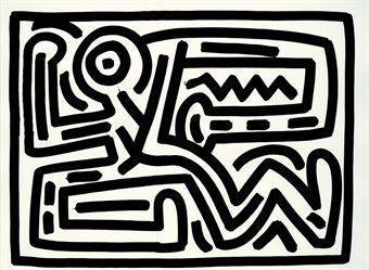 Keith Haring-Keith Haring - Untitled #6-1988
