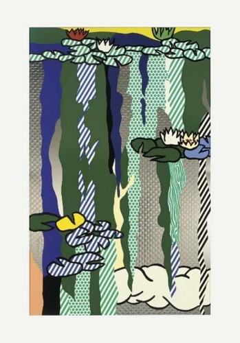 Roy Lichtenstein-Water Lillies with Cloud-1992