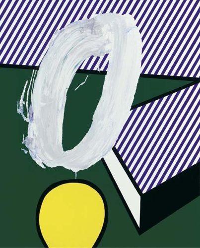 Roy Lichtenstein-Brushstroke Still Life III-1996