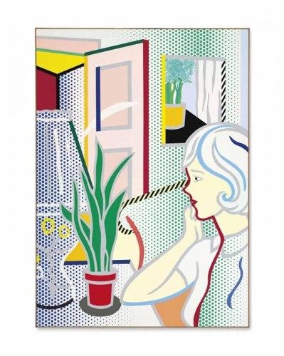 Roy Lichtenstein-Interior with Woman-1997