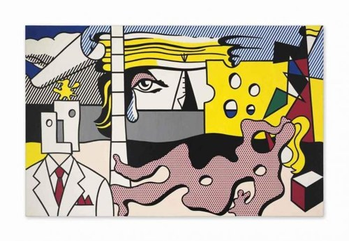 Roy Lichtenstein-Landscape with Figures-1977