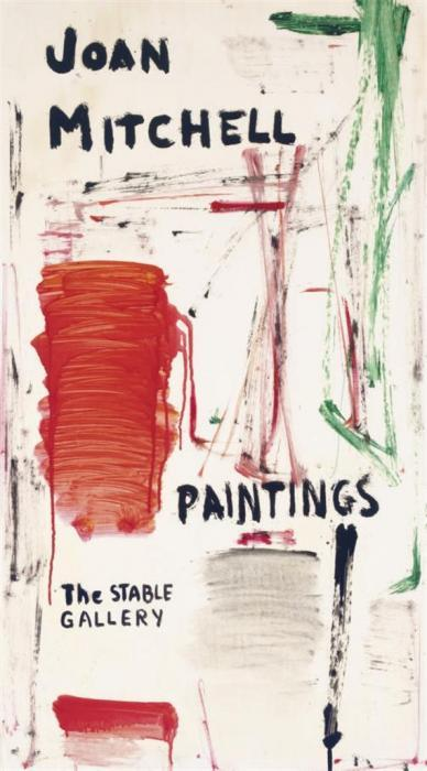 Joan Mitchell-Untitled (Joan Mitchell Paintings The Stable Gallery exhibition announcement)-1961