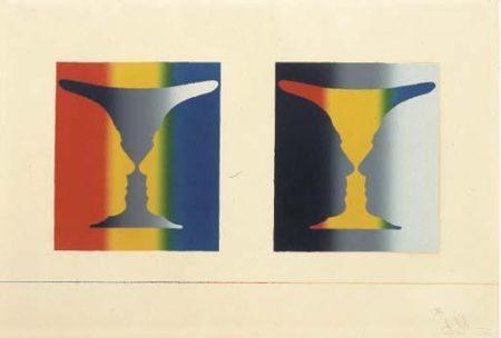 Jasper Johns-Cups 4 Picasso (U.L.A.E. 112; F. 167)-1972