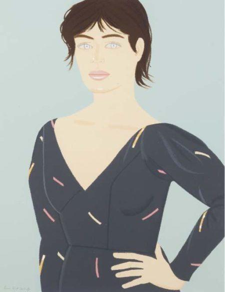 Alex Katz-Grey Dress (Laura)-1992