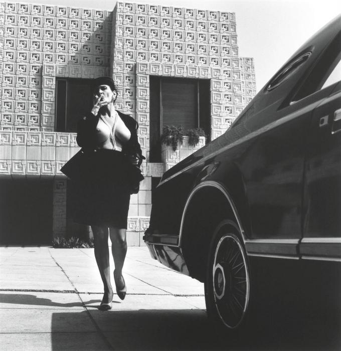 Helmut Newton-Woman In Chanel Suit (1990)-1990