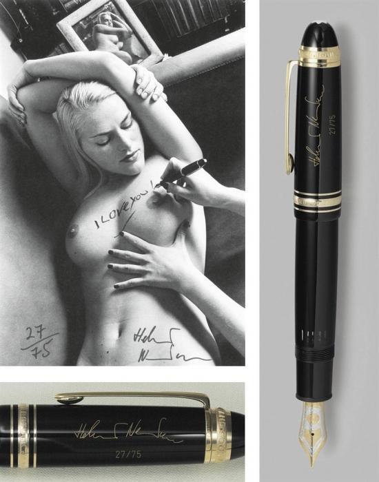Helmut Newton-Photograph And Fountain Pen From A Helmut Newton Montblancmeisterstuck Set (1999)-1999