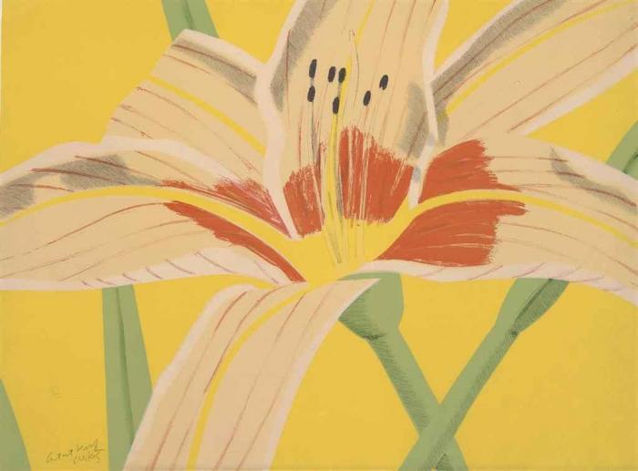 Alex Katz-Day Lilly II (Maravall 24)-1969