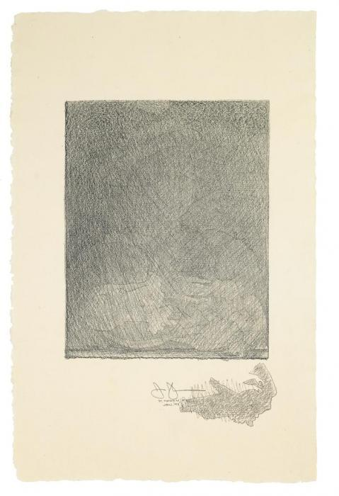 Jasper Johns-After Holbein (Untitled)-1993