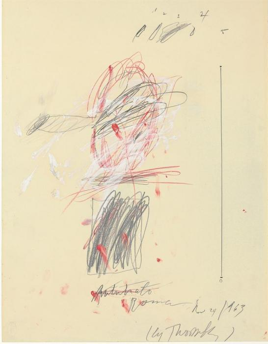Cy Twombly-Autoritratto (Self Portrait)-1963