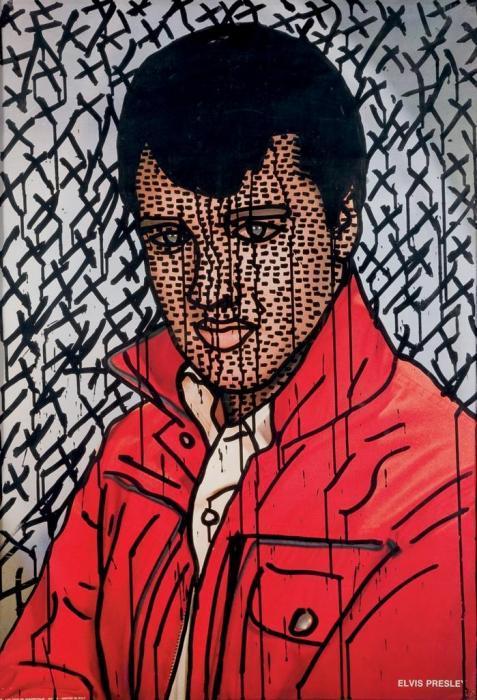 Keith Haring-Keith Haring - Elvis Presley-1982