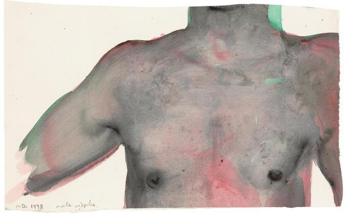 Marlene Dumas-Male Nipples-1998