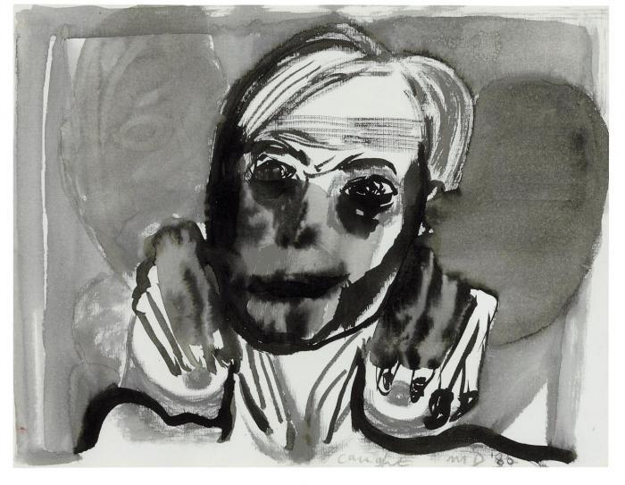 Marlene Dumas-Caught-1986