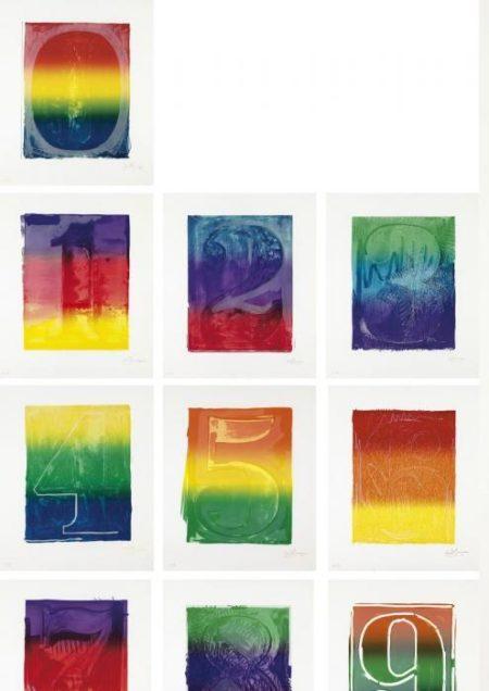 Jasper Johns-Color numeral series (ULAE 59-68)-1969