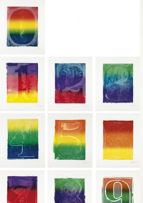 Jasper Johns-Color numeral series (ULAE 59-68)-1969