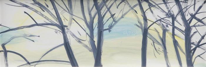 Alex Katz-Windswept Trees-2006