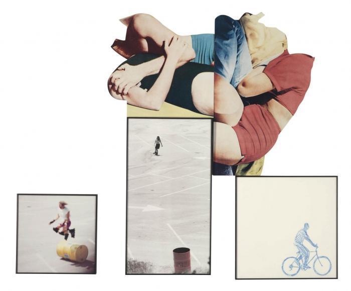 John Baldessari-Embracing Figures (Partial): Skaters/Cyclist-1992