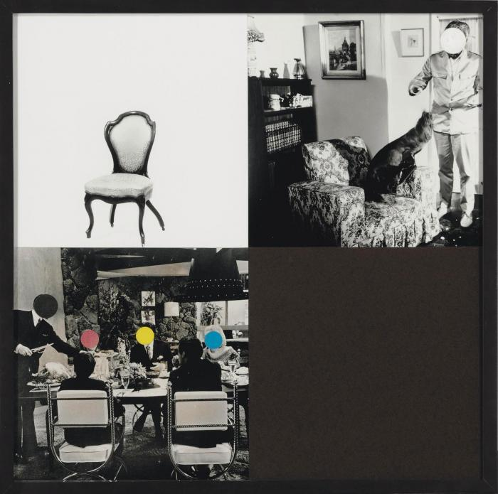 John Baldessari-Eating and Sitting (with Seal and Void)-1997