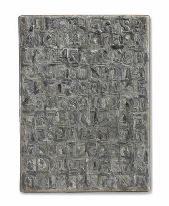 Jasper Johns-Gray Numbers-1961