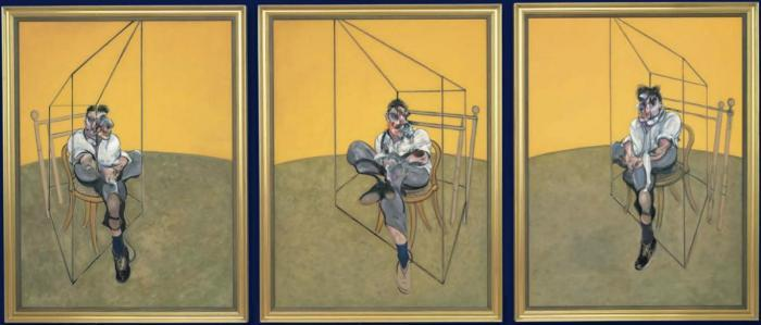 Francis Bacon-Three Studies of Lucian Freud-1969