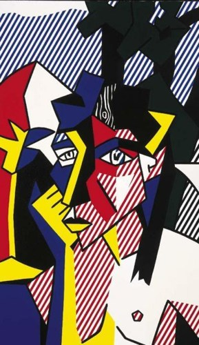 Roy Lichtenstein-Woman in Landscape-1980